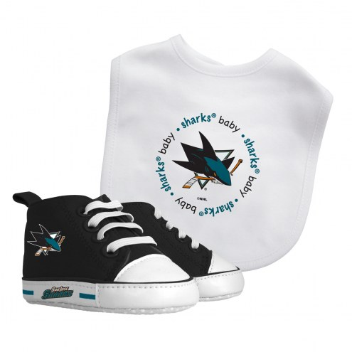 San Jose Sharks Infant Bib & Shoes Gift Set