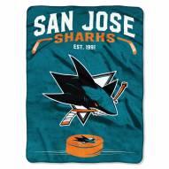 San Jose Sharks Inspired Raschel Blanket