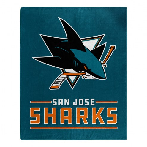 San Jose Sharks Interference Raschel Blanket