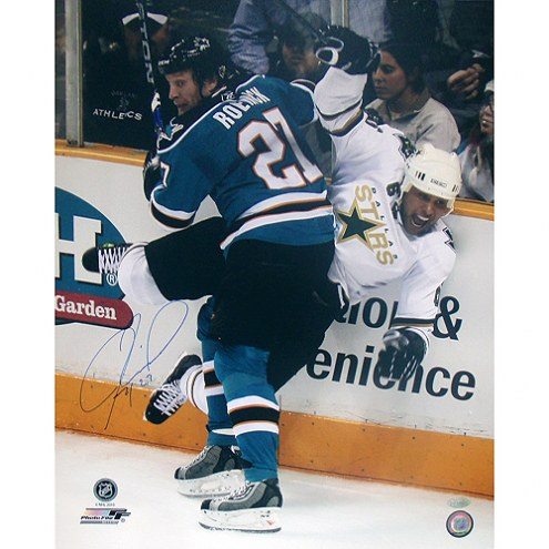"San Jose Sharks Jeremy Roenick Checking Signed 16"" x 20"" Photo"