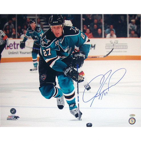"San Jose Sharks Jeremy Roenick Skating Up Ice Signed 16"" x 20"" Photo"