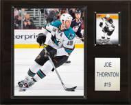 "San Jose Sharks Joe Thornton 12"" x 15"" Player Plaque"