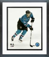 San Jose Sharks Justin Braun Action Framed Photo