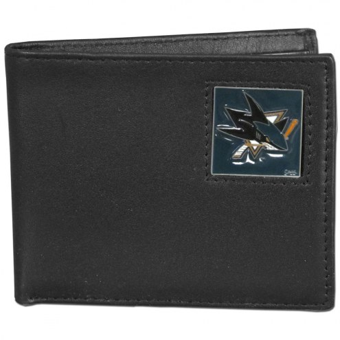 San Jose Sharks Leather Bi-fold Wallet