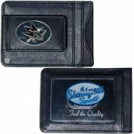 San Jose Sharks Leather Cash & Cardholder