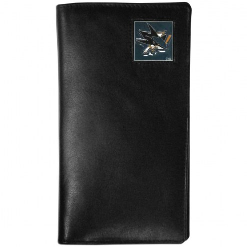 San Jose Sharks Leather Tall Wallet