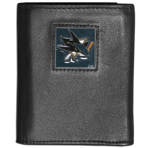San Jose Sharks Leather Tri-fold Wallet