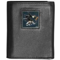 San Jose Sharks Leather Tri-fold Wallet