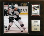 """San Jose Sharks Logan Couture 12"""" x 15"""" Player Plaque"""