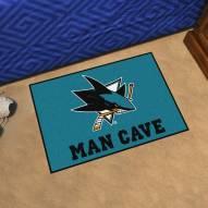 San Jose Sharks Man Cave Starter Mat