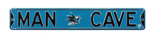 San Jose Sharks Man Cave Street Sign