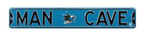 San Jose Sharks Man Cave Street Sign