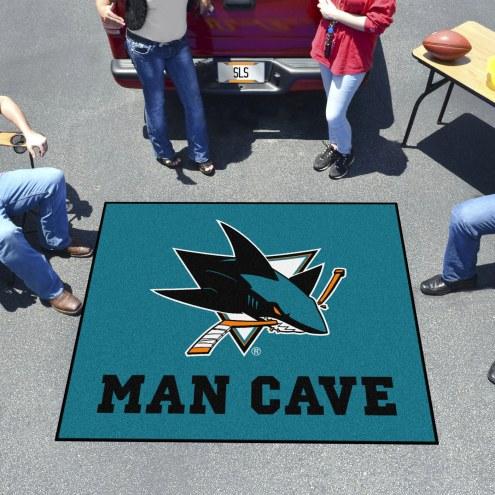 San Jose Sharks Man Cave Tailgate Mat