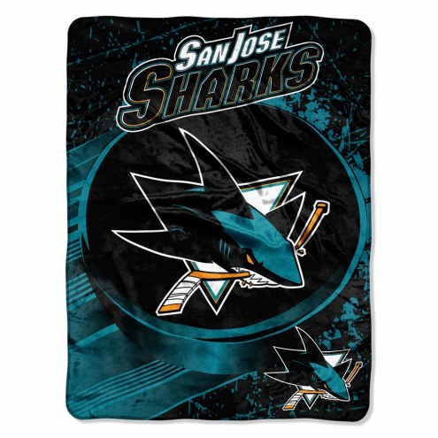 San Jose Sharks Micro Ice Dash Blanket