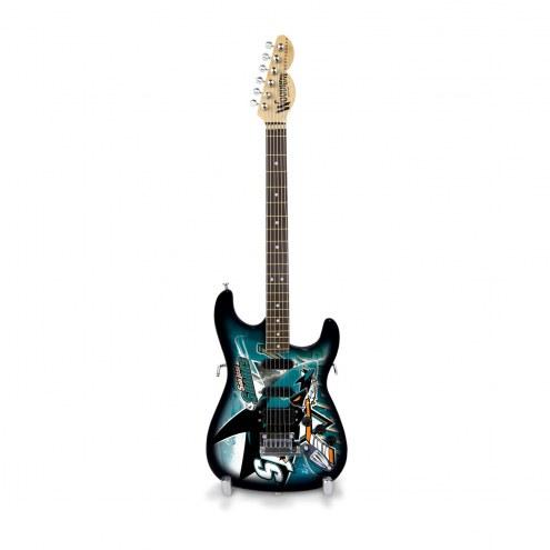 San Jose Sharks Mini Collectible Guitar