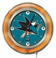 San Jose Sharks Neon Clock