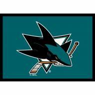 San Jose Sharks NHL Team Spirit Area Rug