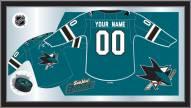 San Jose Sharks Personalized Jersey Mirror