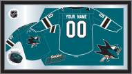 San Jose Sharks Personalized Jersey Mirror