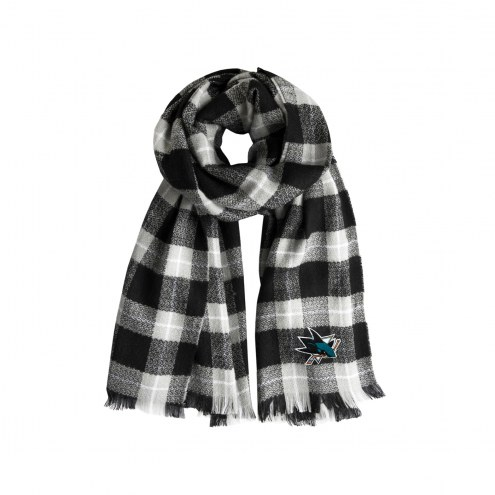 San Jose Sharks Plaid Blanket Scarf