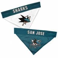San Jose Sharks Reversible Dog Bandana