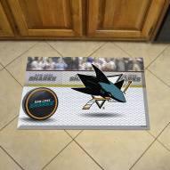 San Jose Sharks Scraper Door Mat