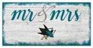 San Jose Sharks Script Mr. & Mrs. Sign