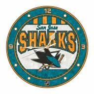 San Jose Sharks Stained Glass Wall Clock