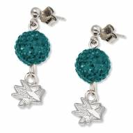 San Jose Sharks Sterling Silver Crystal Ovation Earrings