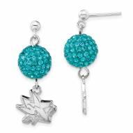 San Jose Sharks Sterling Silver Crystal Ovation Earrings