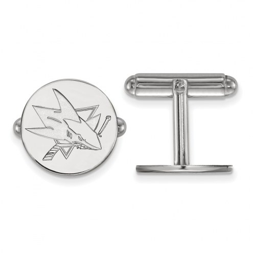 San Jose Sharks Sterling Silver Cuff Links