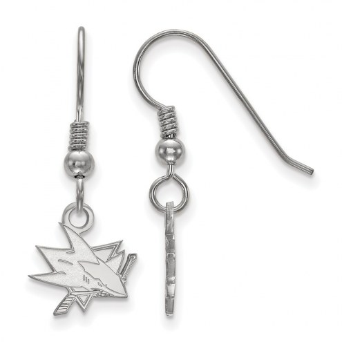 San Jose Sharks Sterling Silver Extra Small Dangle Earrings