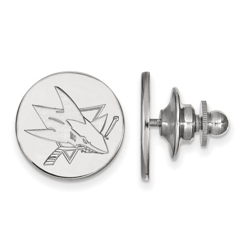 San Jose Sharks Sterling Silver Lapel Pin