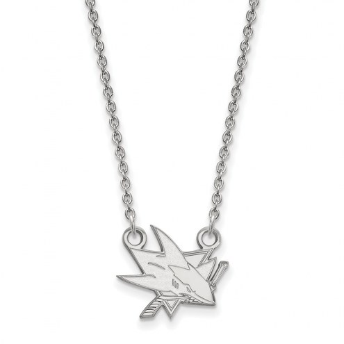 San Jose Sharks Sterling Silver Small Pendant Necklace