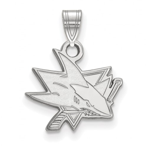 San Jose Sharks Sterling Silver Small Pendant