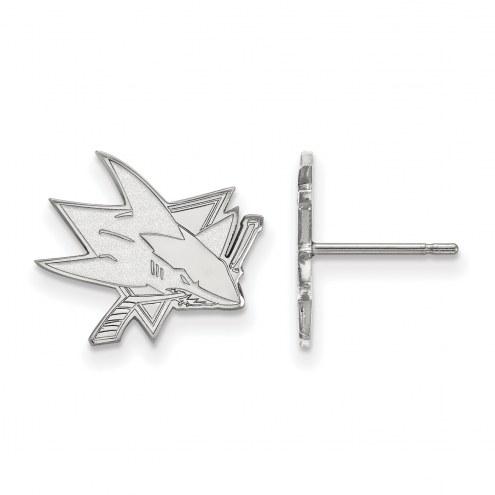 San Jose Sharks Sterling Silver Small Post Earrings