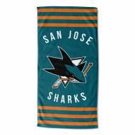 San Jose Sharks Stripes Beach Towel