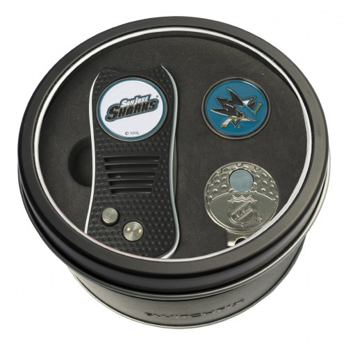 San Jose Sharks Switchfix Golf Divot Tool, Hat Clip, & Ball Marker