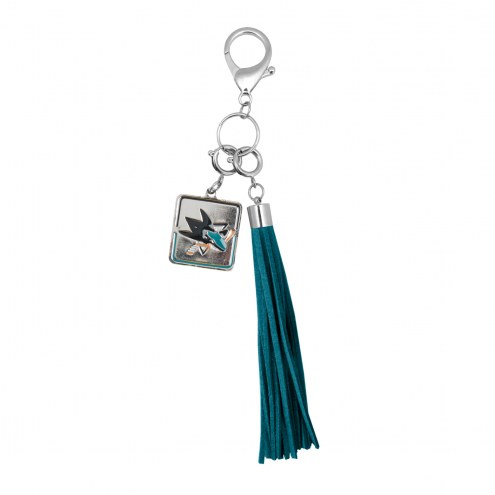 San Jose Sharks Tassel Purse Charm
