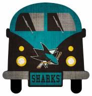 San Jose Sharks Team Bus Sign