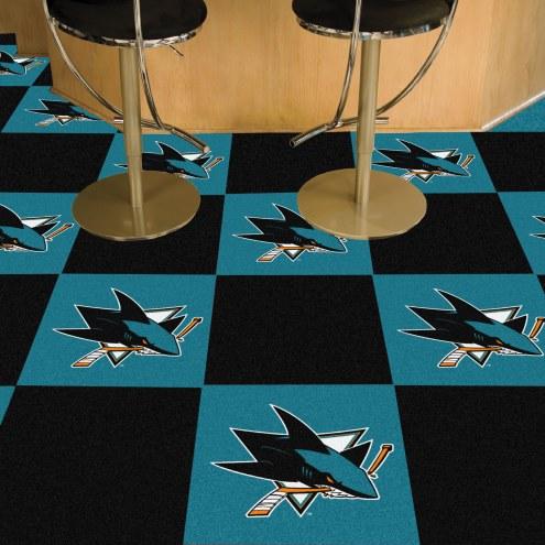 San Jose Sharks Team Carpet Tiles
