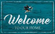San Jose Sharks Team Color Welcome Sign