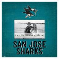 "San Jose Sharks Team Name 10"" x 10"" Picture Frame"