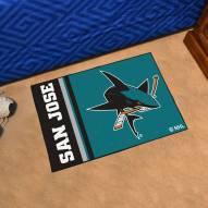 San Jose Sharks Uniform Inspired Starter Rug
