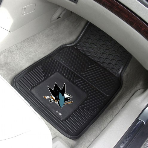 San Jose Sharks Vinyl 2-Piece Car Floor Mats