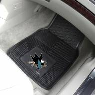 San Jose Sharks Vinyl 2-Piece Car Floor Mats