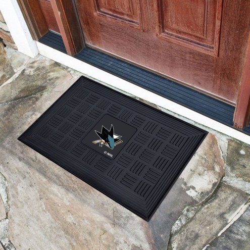 San Jose Sharks Vinyl Door Mat