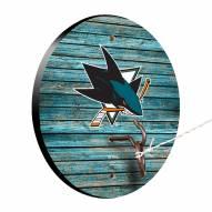 San Jose Sharks Weathered Design Hook & Ring Game
