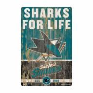 San Jose Sharks Slogan Wood Sign