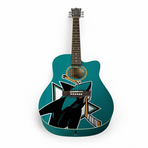 San Jose Sharks Woodrow Acoustic Guitar